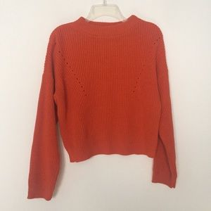 Nasty Gal Sweaters - Nasty Gal What Of Knit Cable Burnt Orange Sweater